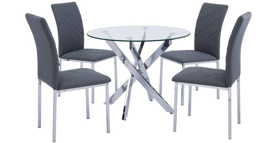 round glass dining table uk